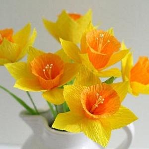 Popierinių gėlių idėjos